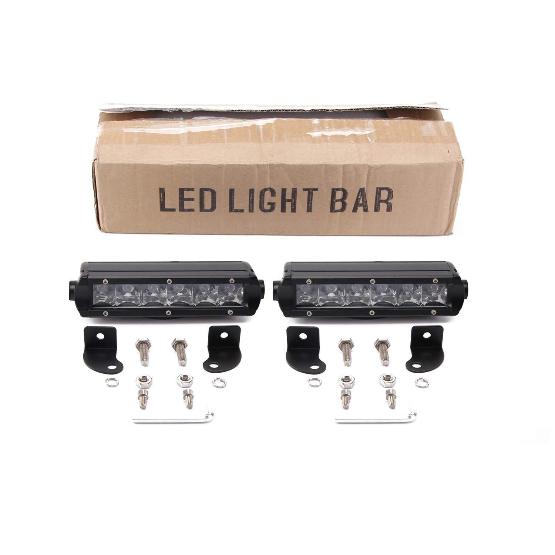 "SUV Jeep ATV Senlips 2PCS 11/"" 50W Single Row Light Bar Led Off Road Bar Flood Beam Led Driving Lights Work Fog Lamp for Truck"