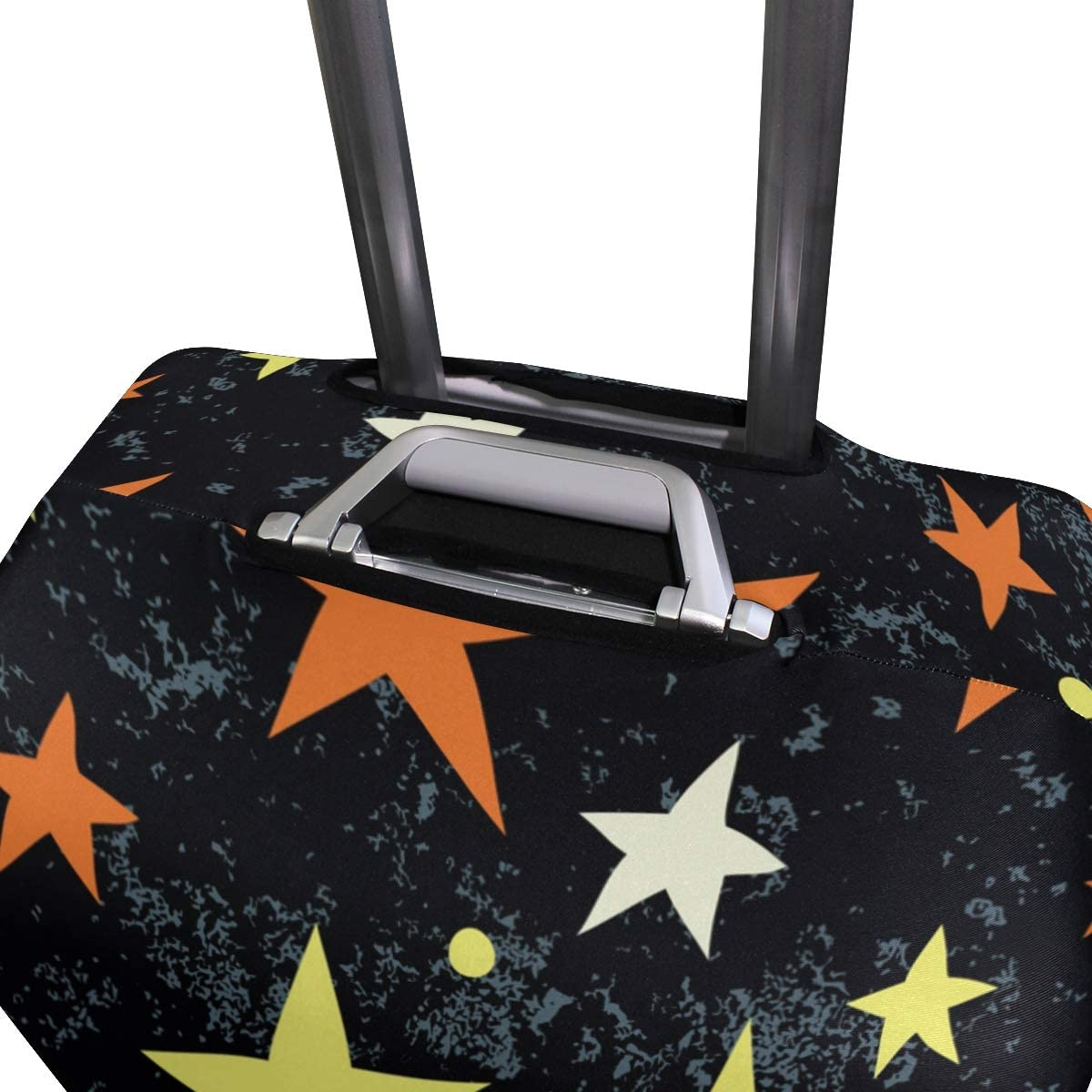Stars Pattern Travel Luggage Cover Stretchable Polyester Suitcase Protector Fits 18-20 Inches Luggage