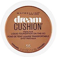 Maybelline New York Dream Cushion Fresh Face Liquid Foundation, Caramel, 0.51 Fluid Ounce