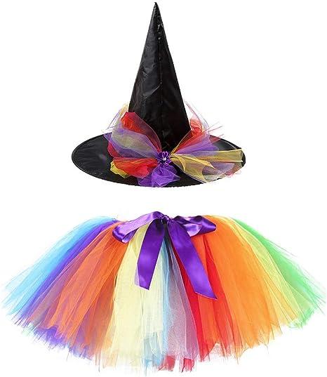 FENICAL Falda de tutú de Halloween para niñas de 2 Piezas con ...