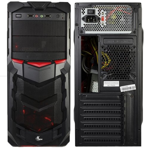 Xtech Power Gamer II ATX Computer Case Gaming Kit with 800W PSU, Keyboard, Mouse and Headset Bundle - Black/Red by Xtech (Image #1)