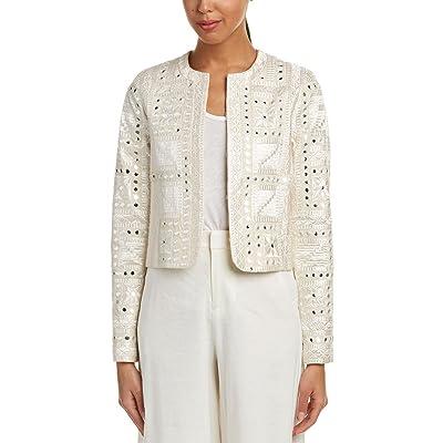 alice + olivia Womens Kidman Jacket, XS, White