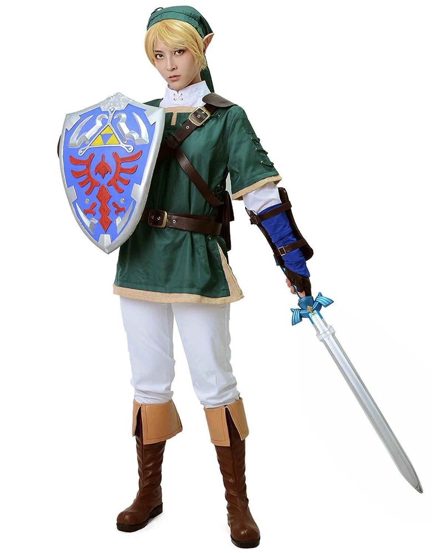 video game characters costumes Green Legend of Zelda Link Cosplay Costume