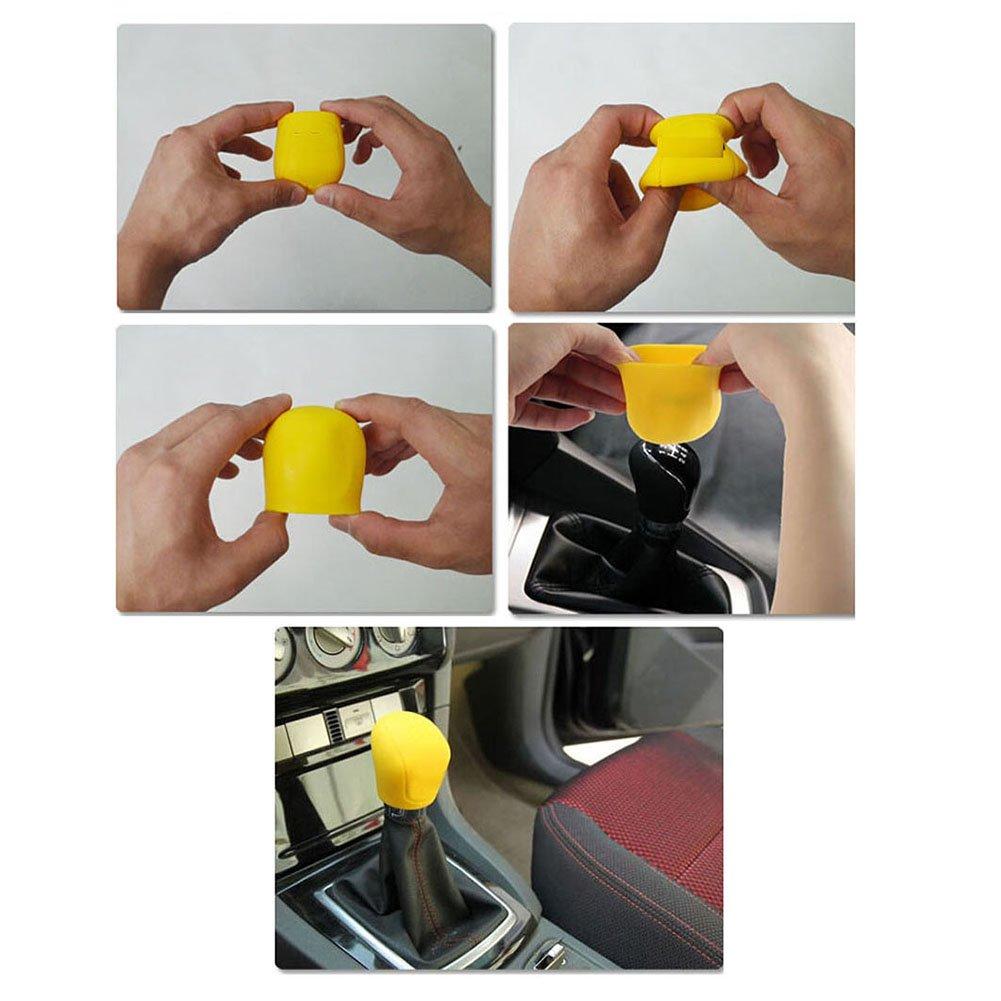 Juego de protector de pomo de palanca de cambio y funda de freno de mano CALISTOUK universal para coche manual