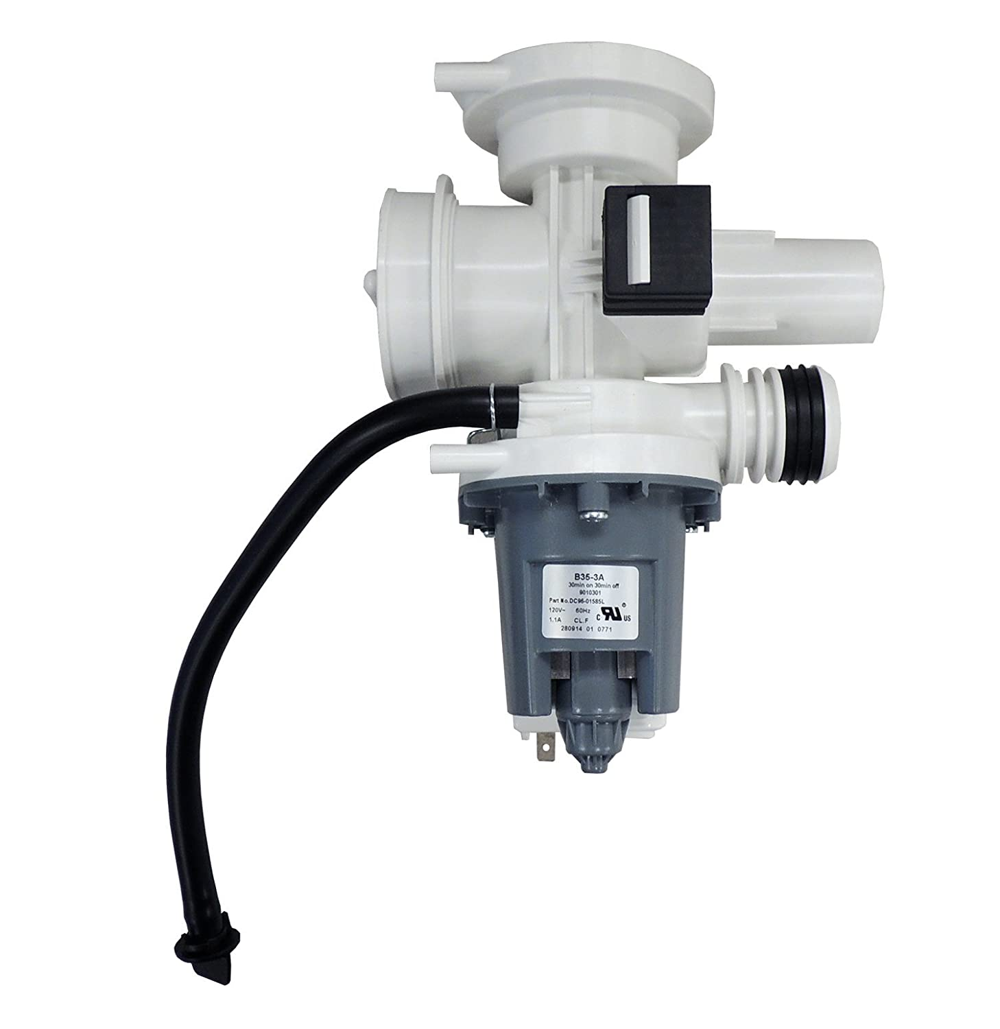 Supco LP1585L Washer Drain Pump Assembly Replaces Samsung DC96-01585L