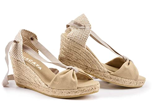 VISCATA Tossa Alpargata de Cuña para Mujer de 6,5 cm Tacón, Diseño Elegante Calidad Made in Spain: Amazon.es: Zapatos y complementos