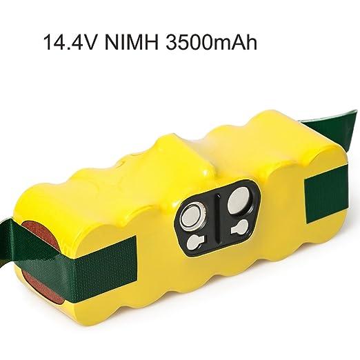 LiBater Batería de Repuesto 14.4V 3500mAh Ni-MH APS para iRobot Roomba Serie 500, 600, 700 y 800 510 530 535 540 550 560 563 570 580 600 610 700 760 ...