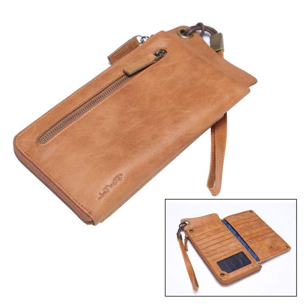 GENGXINLIN財布ロング財布pu女性ヴィンテージ女性の財布ジッパークラッチカードホルダー財布フェミナb   B07MK4B1H6