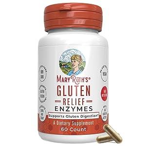 Gluten Enzyme by MaryRuth - Digest Gluten and Casein - Supports Healthy Digestion and Nutrient Absorption - Gluten Blocker - Vegan - 60 Count