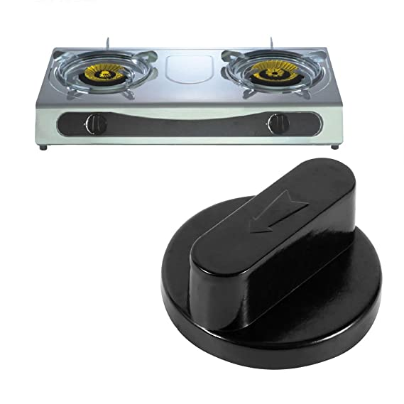 Amazon.com: Zerodis 5pcs Gas Stove Knobs Black Universal ...