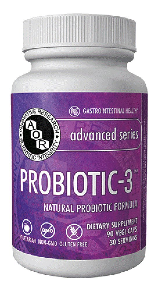 Advanced Orthomolecular Research AOR Probiotic 3 Capsules, 90 Count