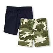 The Children's Place Baby Boys Shorts, Camo 97354, 0-3MONTHS,2 Pack Short
