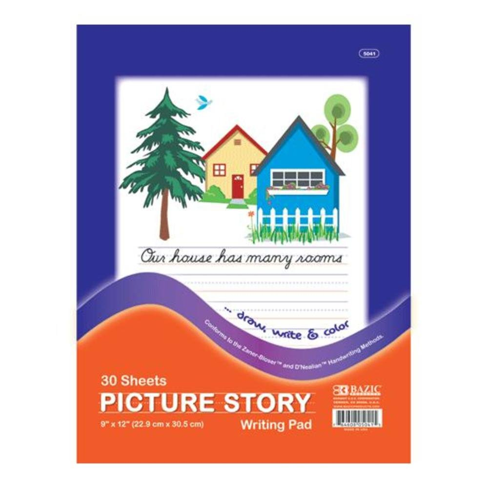 BAZIC Picture Story Pad 9'' x 12'' 48Pcs
