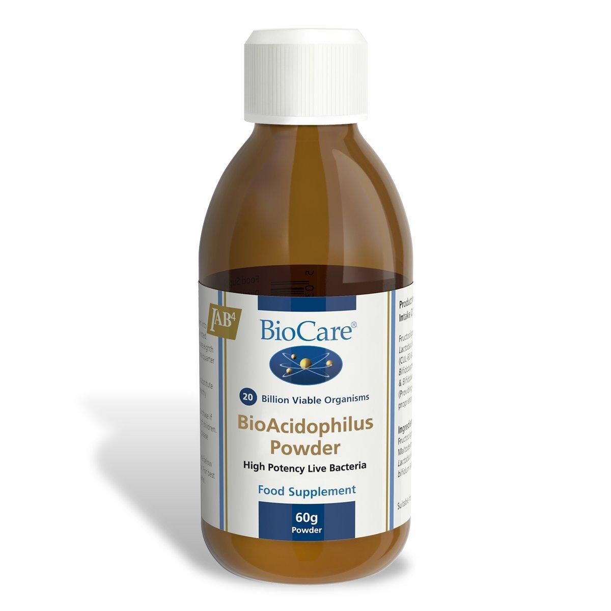 Biocare Bio-Acidophilus Powder (Lactobacillus acidophilus & B. bifidum with fructooligosaccharides) 60g powder