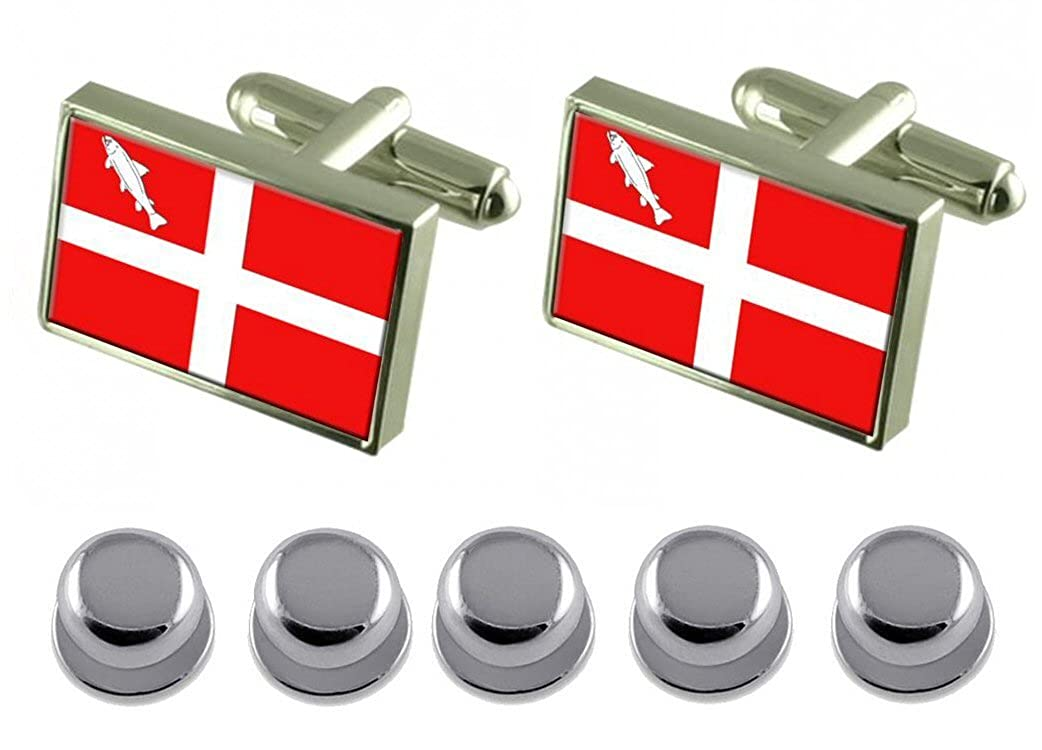 Select Gifts Shirt Dress Studs Annecy City France Flag Cufflinks