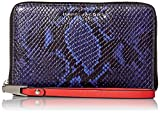 Marc Jacobs Block Letter Snake Zip Phone Wristlet, Cobalt Snake Multi, One Size