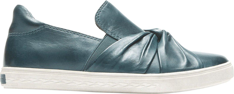 Cobb Hill Women's Willa Bow Slipon Sneaker B01MZIRU1A 7.5 M US|Teal Leather