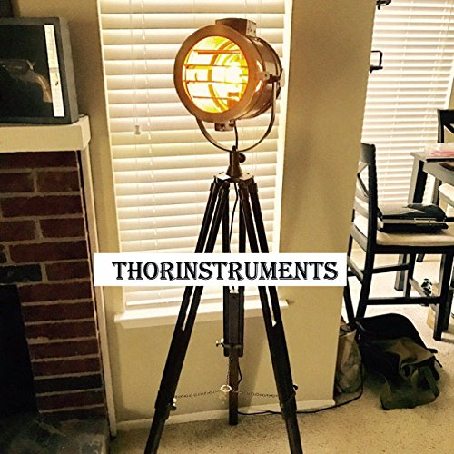Designer Study Room Decor Vintage SPOT Light LAMP Floor Brown Tripod ()
