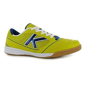 KELME Fútbol Sala de fútbol de América Interior Zapatillas para Hombre Lemon/Royal de fútbol Zapatillas, Azul Cobalto: Amazon.es: Deportes y aire libre