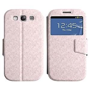 LEOCASE Modelo Rosado Funda Carcasa Cuero Tapa Case Para Samsung Galaxy S3 I9300 No.1000384