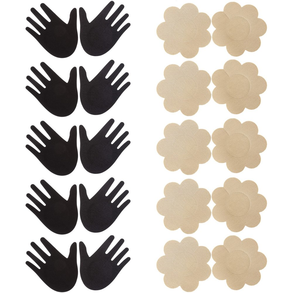 Ayliss Assorted 10Pairs Nipple Covers Disposable Pasties Self-Adhesive Breast Petals #1 AAUS70801
