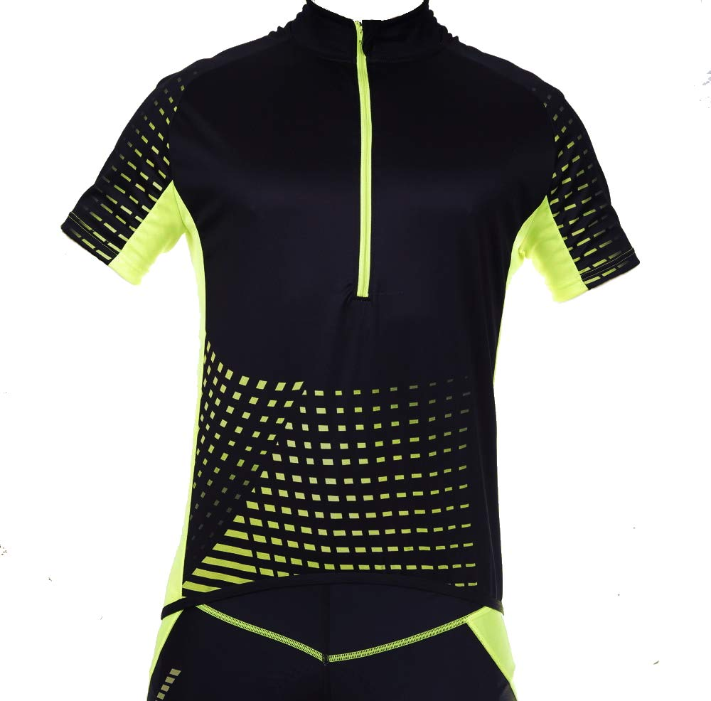 Stanteks Radtrikot Trikott Langarm Fahrradtrikot Fahrradshirt Herren Damen Unisex Fahrrad Radsport Thermo Shirt Reflektoren Schnelltrokend SR0032