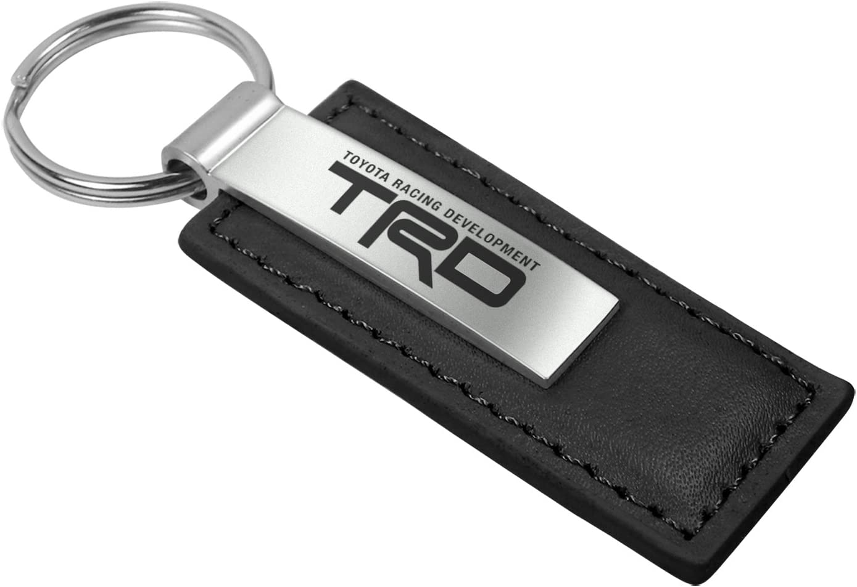 Toyota TRD Black Leather Key Chain