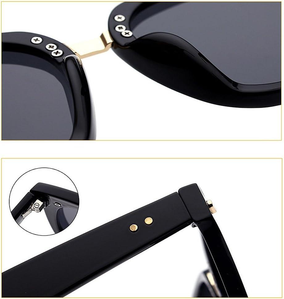 Yiph-Sunglass Moda Occhiali da Sole Rivetto Decorazione Lente Colorata Cat Eyes UV Protezione Occhiali da Sole per Donna Outdoor Driving Viaggiare (Colore : C1) C3
