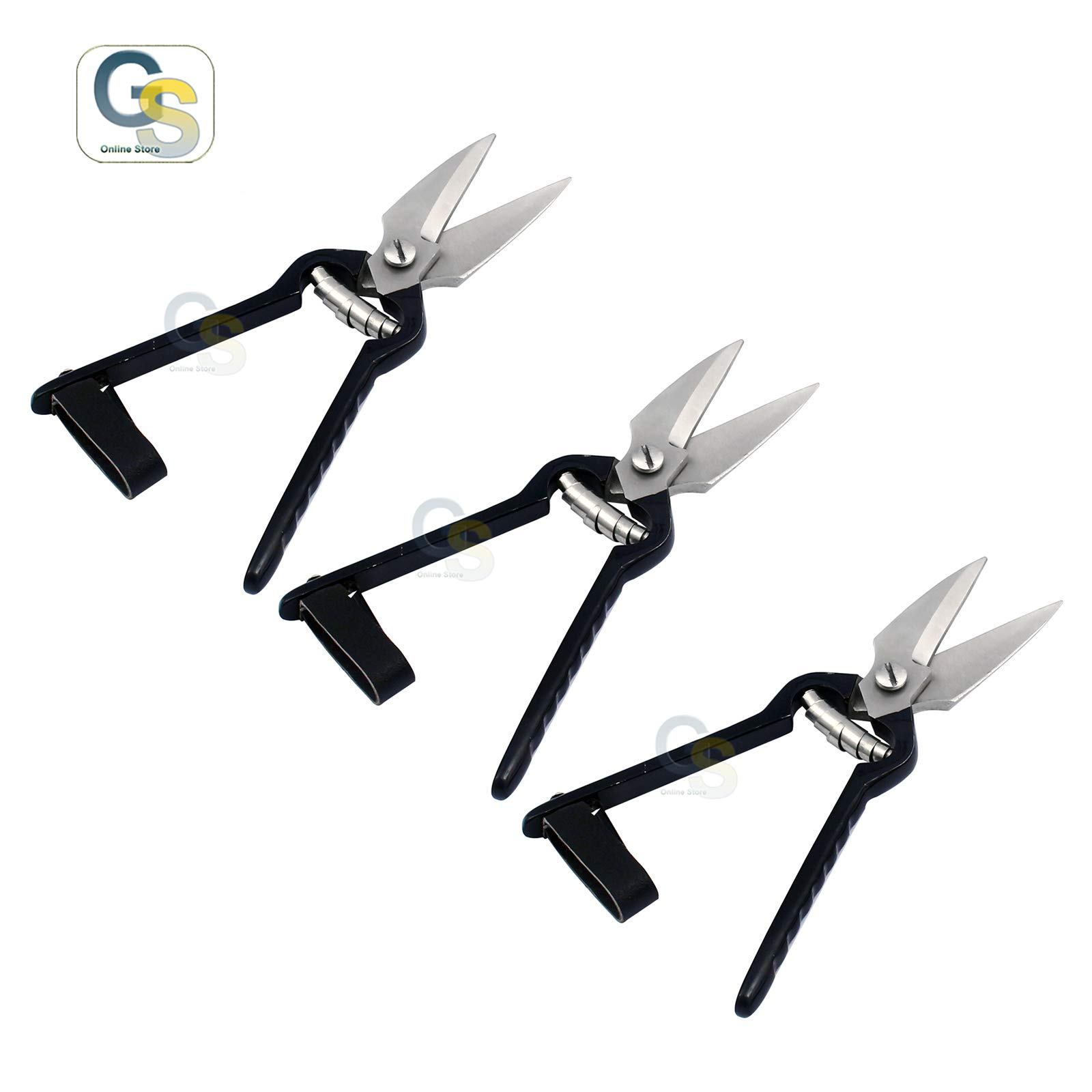 G.S Set of 3 Pcs Goat and Sheep Hoof Trimmers 9'' Stainless Steel Trimming Shears Multi-Purpose Pruning Shears 2.5'' Blade Best Quality