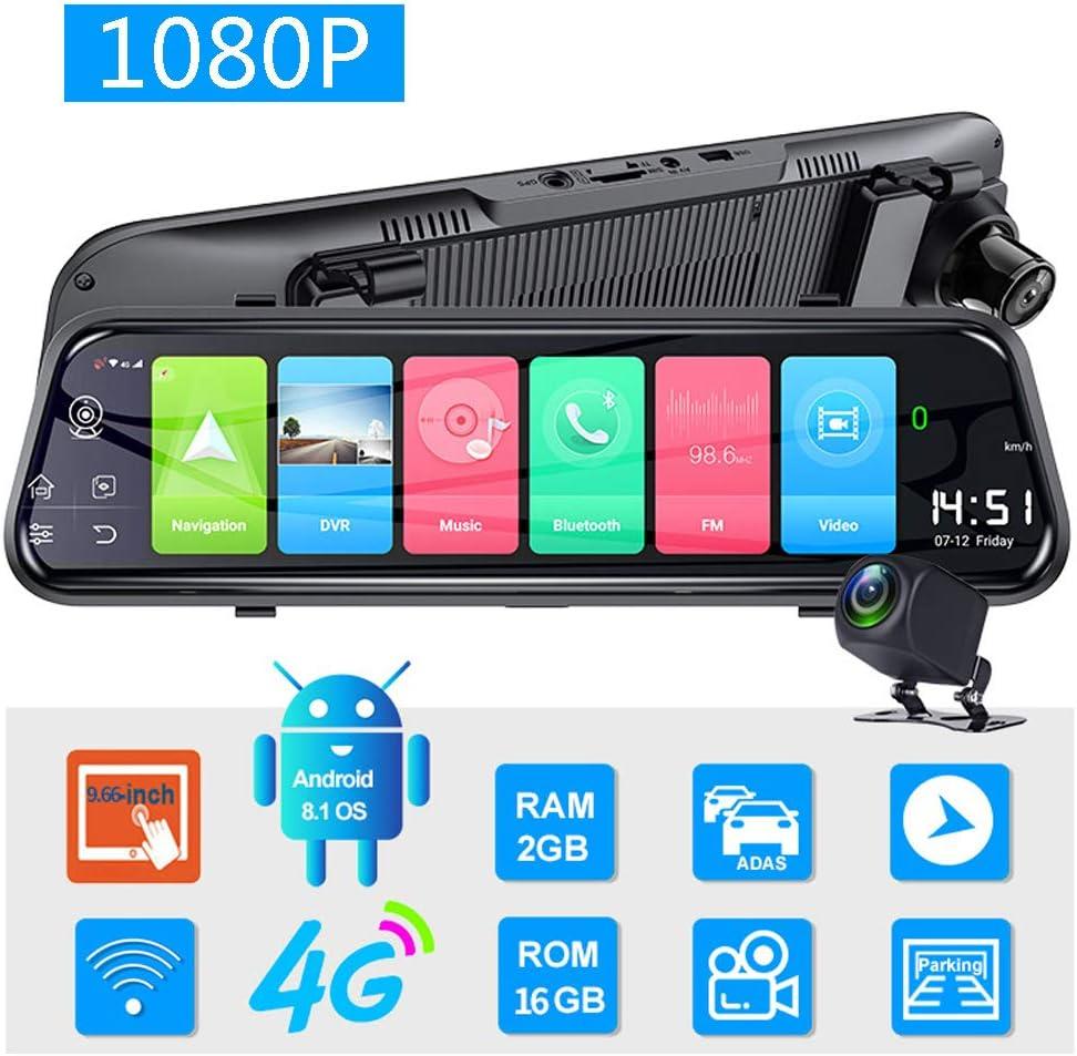 4G Medios De Transmisión 10 Pulgadas De Pantalla Completa Inteligente En Doble Cámara De Grabación Sistema Android 8.1 con Monitoreo De Estacionamiento Función Bluetooth WiFi
