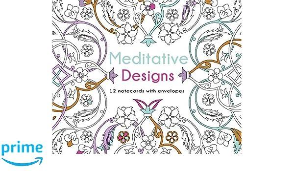 Meditative Designs 12 Note Cards With Envelopes Lark Crafts 9781454709473 Amazon Books