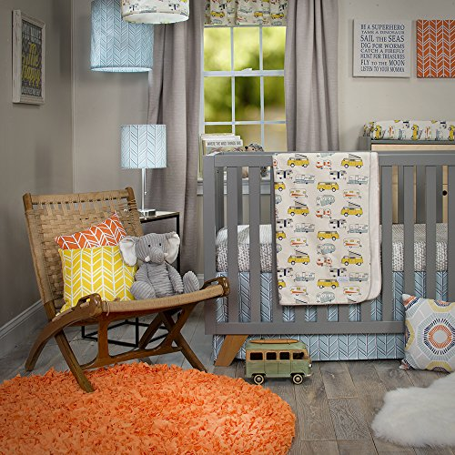 Skirt Crib Glenna Cotton Jean (Glenna Jean Happy Camper 3 Piece Set (Includes quilt, sheet, crib skirt))