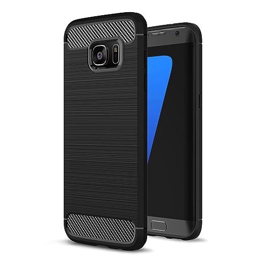 4 opinioni per Custodia Galaxy S7 Edge Nero, Ultra Sottile del Bumper Cover di TPU in Fibra di