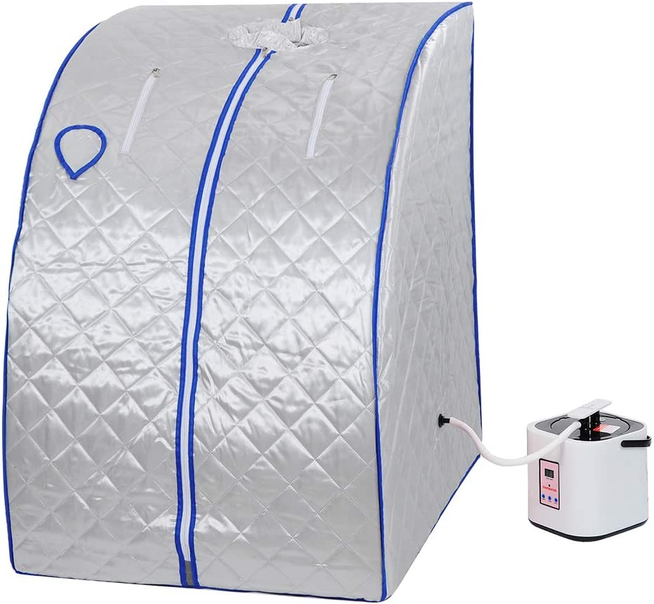 ZeHuoGe Replacement Steamer with Herbal Box for Portable Sauna Tent 9-Level Temperature Adjustment /& 6-Level time Setting Digital Display and a Remote Control