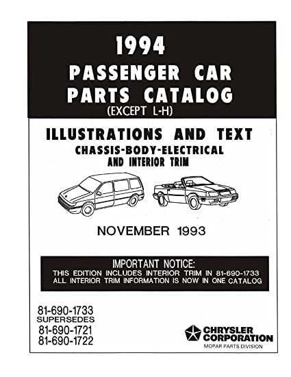 Amazon Com Bishko Automotive Literature 1994 Mopar Chrysler Dodge