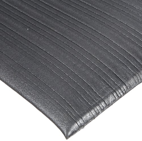 Rhino Mats CSR-230B Comfort Step Ribbed Vinyl Foam Anti-Fatigue Mat, 2' Width x 30' Length x 3/8