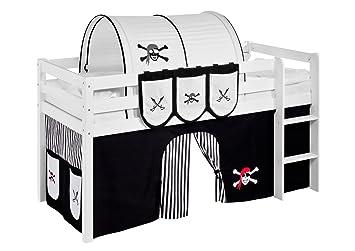 Rideau Pirat Noir-Blanc-Rayures - pour Lit mezzanine et Lit ...