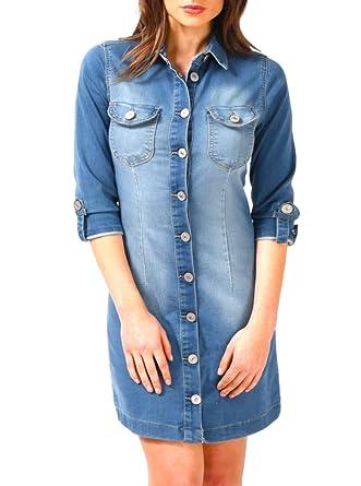 e4fa1c0d7ea SS7 NEW Longline Denim Blue Shirt Dress