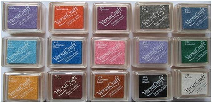 Gruen 9.9 x 6.6 x 1.8 cm Synthetic Material Tsukineko Versamagic Kreide-Stempelkissen Teebl/ätter