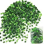 ElaDeco-94-ft-12-Pack-Artificial-Ivy-Garland-VinePlastic-Ivy-Vines-Fake-Ivy-Garland-for-Wedding-Party-Decoration-Garden-Wall-Greenery-Decoration