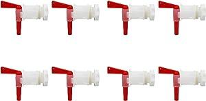 PERA Plastic Bottling Bucket Spigot Valve Replacement Spigot Tap Faucet for Beer Homebrew Soda Beverage Fermenter Bucket (8pcs)