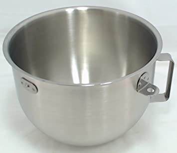 KitchenAid KN25NSF 5 Quart Stainless Steel Commercial Mixing Bowl With  Handle
