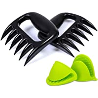 Pulled Pork Claws Meat Shredder with Silicone Pot Holder- BBQ Grill Tools and Smoking Accessories for Carving, Handling, Lifting