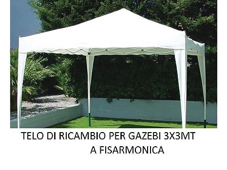 Telo bianco di ricambio copertura per gazebo metri 3x3 pieghevole a