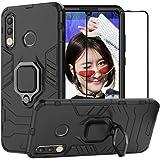 BestAlice Funda para Huawei P30 Lite/Nova 4e Case Protector de Pantalla de Cristal Templado, Híbrida Rugged Armor Choque Abso