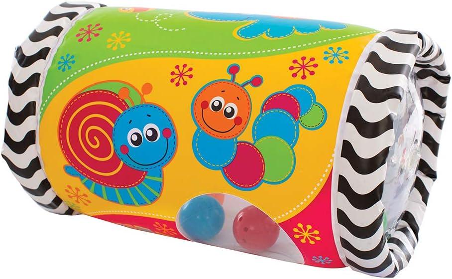 Playgro Rulo de Actividades Musical, Desde los 6 Meses, Tumble Jungle Peek in Roller, Multicolor, 40154