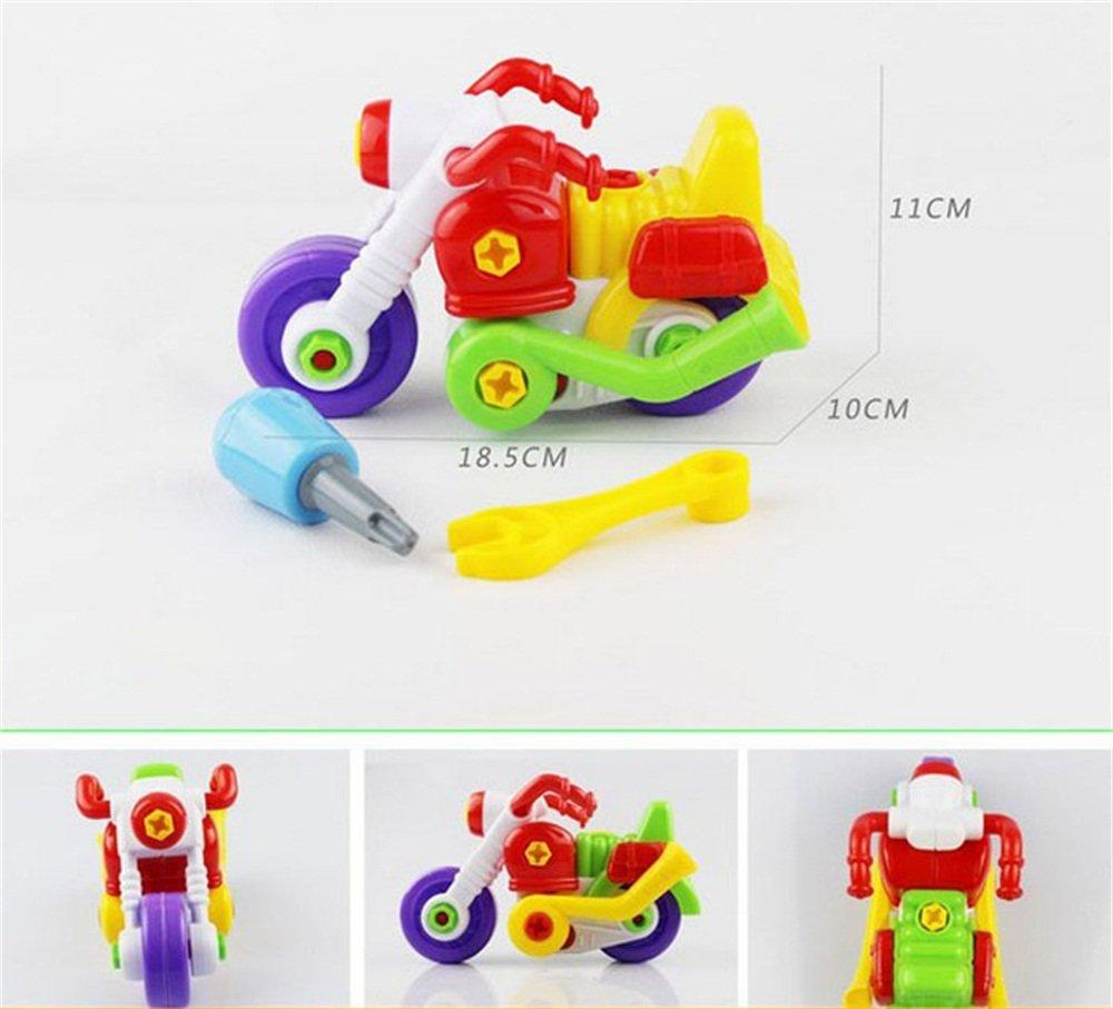 Jeux /éducatifs Anniversaire Enfants Cadeau Enfants Assembl/ée d/ésassemblage Enfant Motorcycle Cartoon Christmas Toy Kolylong Jouets pour Enfants Couleur al/éatoire