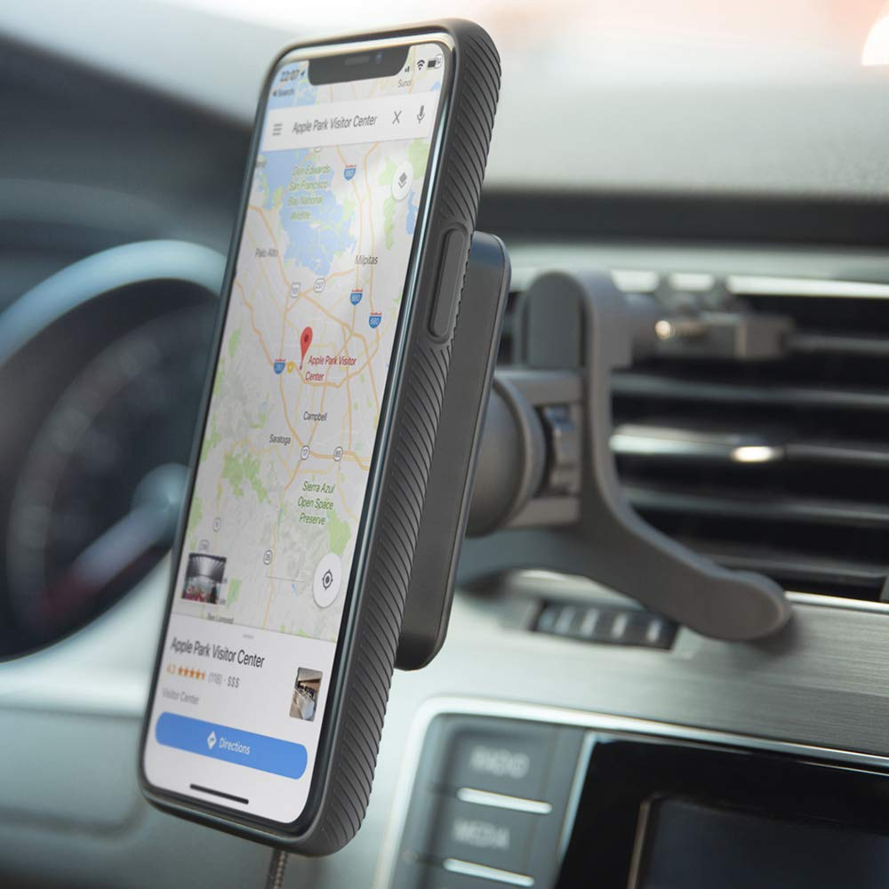 iPhone X//8//8 Plus//Samsung Galaxy S9//8//7//Note 8 and More Inc W2-AVM-01 Air Vent Phone Holder iPhone XR XVIDA Magnetic Wireless Charger Car Mount with Fan for iPhone Xs QC3.0 Fast Charging iPhone Xs Max