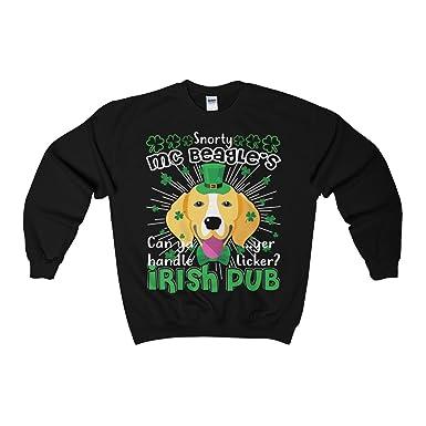 ce2f20f2 Yuh Apparel Snorty MC Beagle Irish Pub Dog Funny Shirt - ST Patrick's Day  Sweatshirts at Amazon Women's Clothing store: