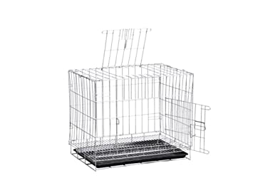 ZSSHJ Jaulas para perros, perro mediano Cama para mascotas Cifrado para perros Jaula de hierro Plegable Plata 50 * 70 * 60cm: Amazon.es: Hogar